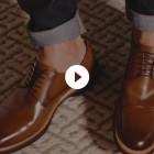 Sapato Masculino Derby Almería Whisky