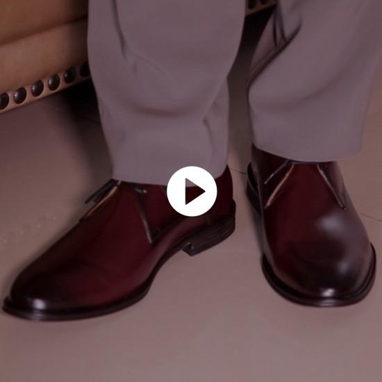 Sapato Social Derby Marbella Burgundy