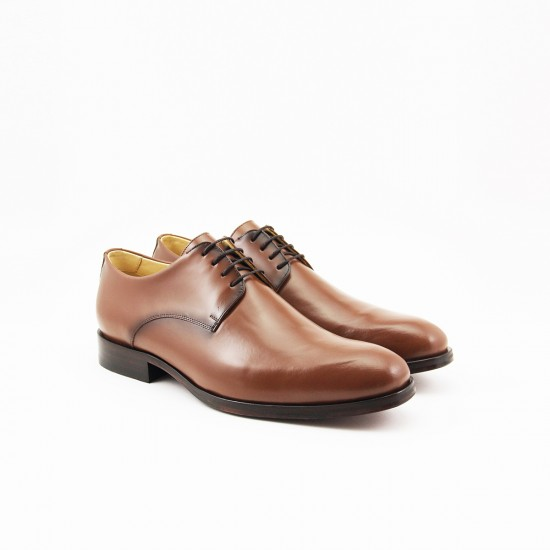 Sapato Social Derby Plain-toe Murcia Whisky
