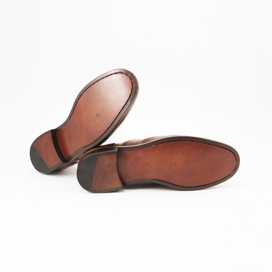 Sapato Feminino Brogue Baeza Whisky