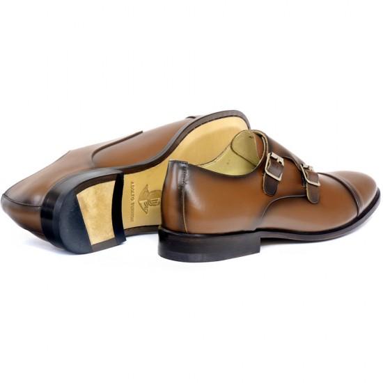 Sapato Social Monk Strap Cartagena Whisky