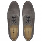 Sapato Masculino Oxford Avila Camurça Cinza/branca