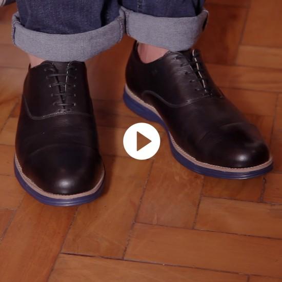 Sapato Masculino Oxford Avila Preto