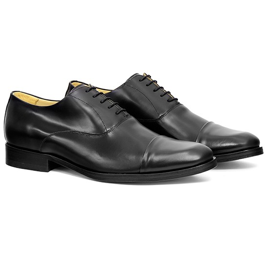 Sapato Social Oxford Cap-toe Cuenca Preto