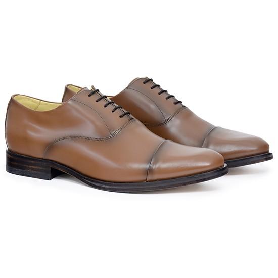 Sapato Social Oxford Cap-toe Cuenca Whisky