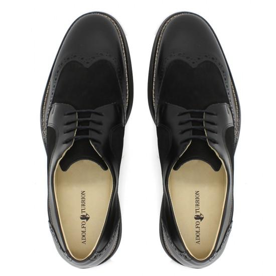 Sapato Masculino Brogue Prado Preto