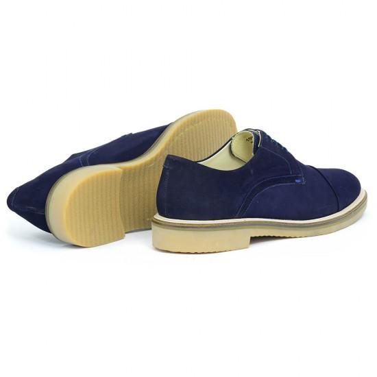 Sapato Masculino Derby Lugo Nobuck Marinho