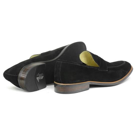 Sapato Masculino Loafer Burgos Nobuck Preto