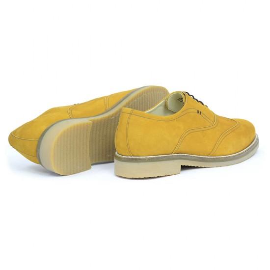 Sapato Masculino Oxford Rioja Nobuck Mostarda