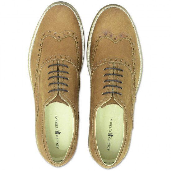 Sapato Masculino Oxford Zaragoza Nobuck Caramelo