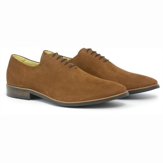 Sapato Masculino Wholecut Oxford Andaluz Nobuck Pinhão