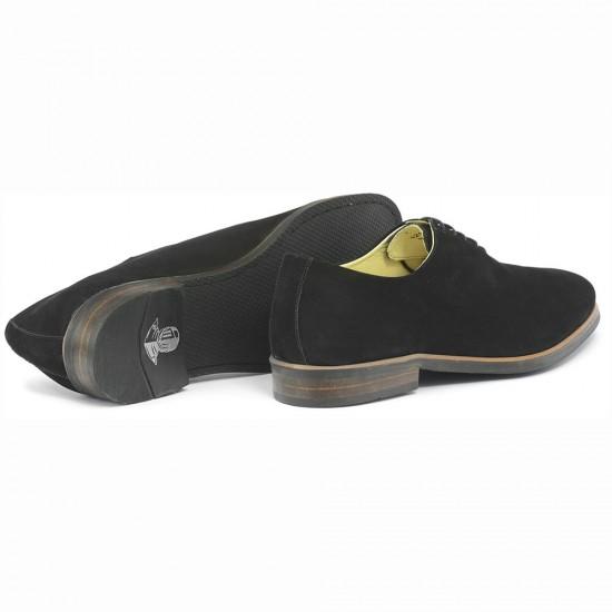Sapato Masculino Wholecut Oxford Andaluz Nobuck Preto