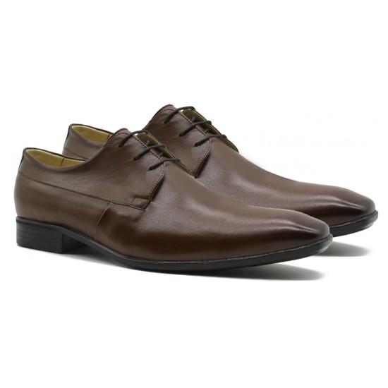 Sapato Social Confort Derby Cáceres Pinhão