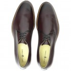 Sapato Social Derby Marbella Burgundy - Sola Borracha