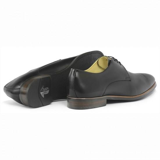 Sapato Social Derby Merida Preto - Sola Borracha