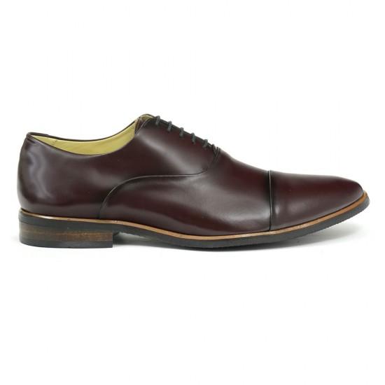 Sapato Social Oxford Córdoba Burgundy - Sola Borracha