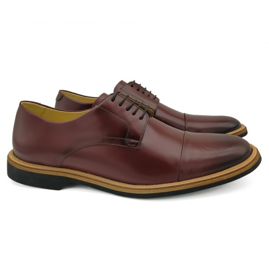Sapato Masculino Derby Almería Burgundy