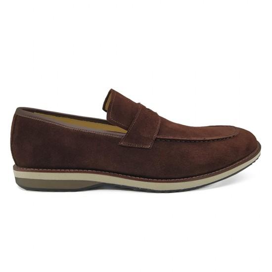 Sapato Masculino Loafer Turre Camurça Marinho