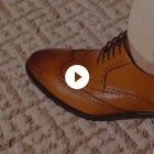 Sapato Social Derby Brogue Barceo Caramelo (english Tan)