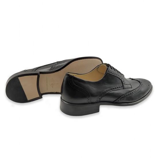 Sapato Social Derby Brogue Barceo Preto