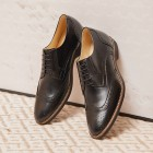 Sapato Masculino Derby Brogue Guaro Preto