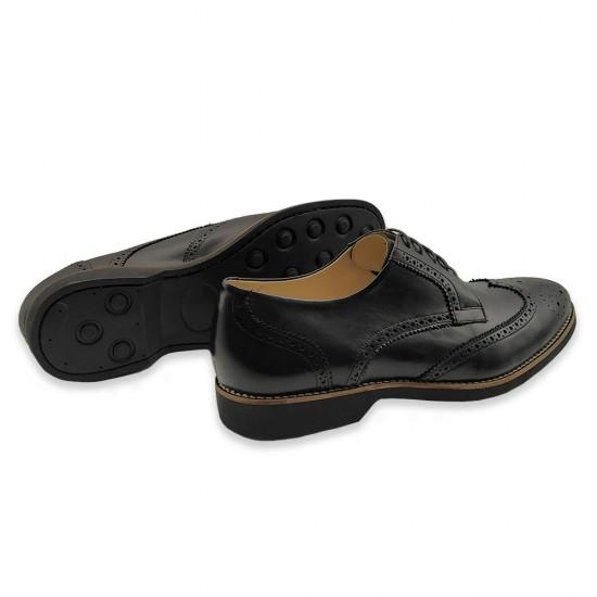 Sapato Masculino Derby Brogue Guaro Preto
