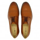Sapato Masculino Derby Cantelle Caramelo (english Tan)
