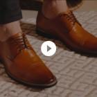 Sapato Masculino Derby Cantelle Caramelo (english Tan)