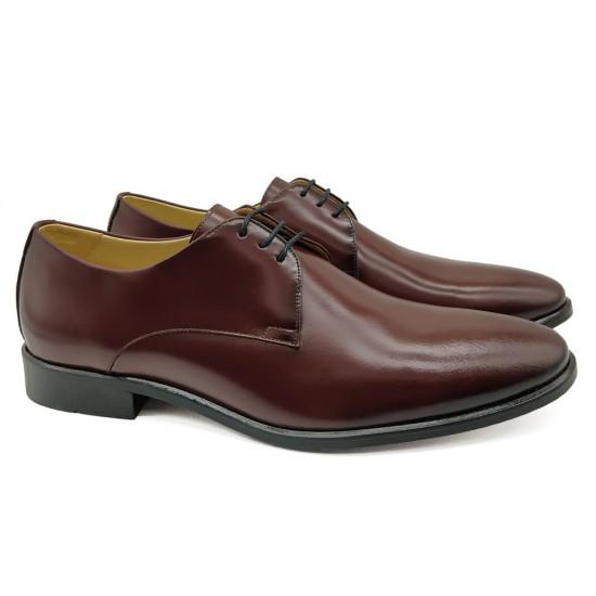 Sapato Social Derby Merida Burgundy