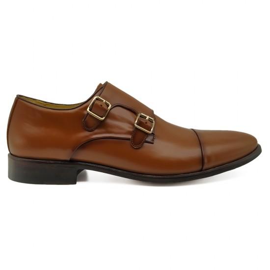 Sapato Social Monk Strap Lucena Whisky